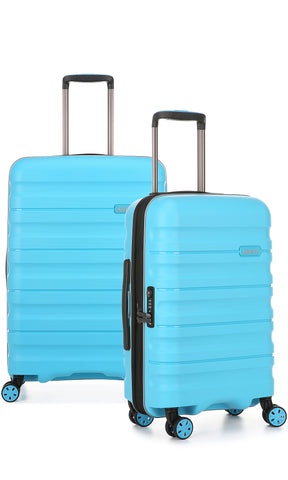 Antler Juno 2 Medium 68cm And Cabin/Carry On 56cm Turquoise Expandable Hardcase Set