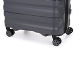 Antler Juno 2 Large 80cm Cabin/Carry On 56cm Charcoal Expandable Hardcase Set