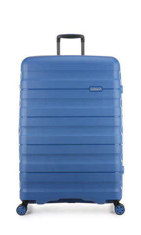 Antler Juno 2 Large 80cm Blue Expandable Hard Suitcase case