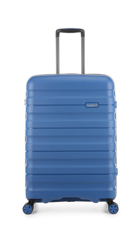 Antler Juno 2 Medium 68cm Blue Expandable Hard Suitcase