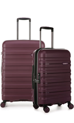 Antler Juno 2 Aubergine Expandable Hard Suitcase Medium And Cabin Set