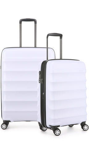 Antler Juno Camber Medium 68cm And Cabin/Carry On 56cm Lilac Expandable Hard Suitcase Set