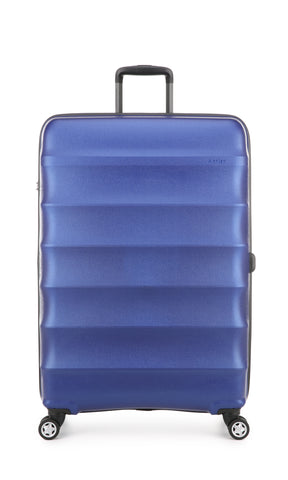 Antler Juno Metallic DLX Large 79cm Blue Expandable Hard Suitcase