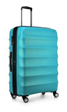 Antler Juno Metallic DLX Large 79cm Teal Expandable Hard Suitcase