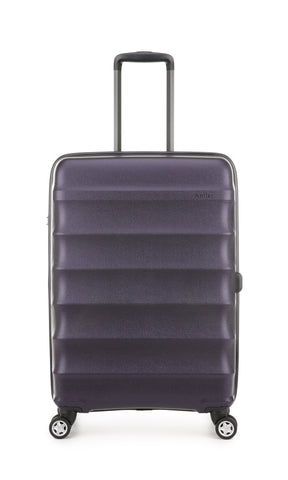 Antler Juno Metallic DLX Medium 68cm Aubergine Expandable Hard Suitcase