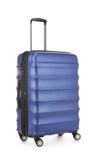 Antler Juno Metallic DLX Medium 68cm Blue Expandable Hard Suitcase