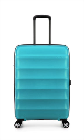 Antler Juno Metallic DLX Medium 68cm Teal Expandable Hard Suitcase