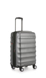 Antler Juno Metallic DLX Cabin 56cm Charcoal Expandable Hard Suitcase