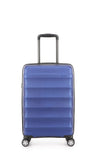 Antler Juno Metallic DLX Cabin 56cm Blue Expandable Hard Suitcase