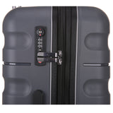Antler Juno 2 Charcoal Expandable 3 Piece Hard Suitcase Set with FREE GO Travel Scale