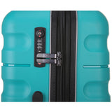 Antler Juno 2 Large 80cm And Cabin/Carry On 56cm Teal Expandable Hardcase Set