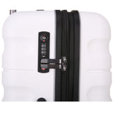 Antler Juno 2 Large 80cm And Cabin/Carry On 56cm White Expandable Hardcase Set