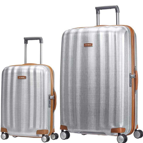 Samsonite Lite Cube DLX Large 82cm And Cabin/Carry On 55cm Aluminium Set