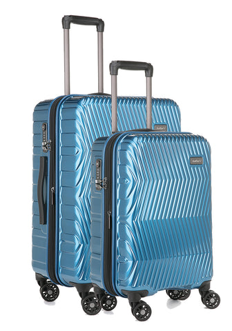 Antler Viva Teal Expandable Hard Medium And Cabin Suitcase Set