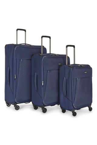 Antler Oxygen Blue Softcase 3 Piece Soft Suitcase Set