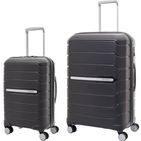 Samsonite Octolite Extra Large 81cm And Cabin/Carry On 55cm Black Set