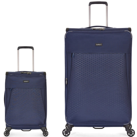 Antler Oxygen Large 81cm And Cabin/Carry On 56cm Blue Set