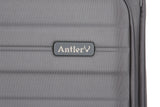 Antler Portland Expandable Large 81cm And Cabin/Carry On Charcoal Suitcase Set