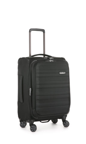 Antler Portland Expandable Cabin/Carry on 56cm Black Suitcase