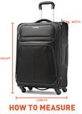 Samsonite S'Cure Cabin/Carry On 55cm Black Hard Suitcase