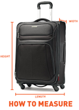 Samsonite Aspero 69cm Medium Hard Suitcase Metallic Blue