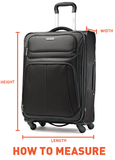Samsonite Lite Cube DLX Extra Large 82cm And Cabin/Carry On 55cm Midnight Blue Hard Suitcase Set Free GO TRAVEL Scale