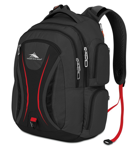 High Sierra Vex Laptop Backpack Black