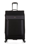 Antler Translite Medium 68cm And Cabin/Carry on 56cm Black Soft Suitcase Set