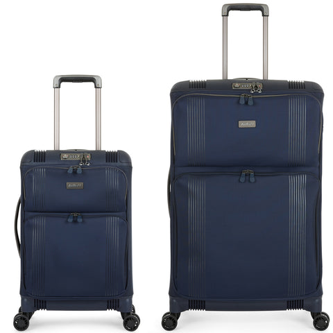 Antler Titus Large 82cm And Cabin/Carry On 56cm Navy Hybrid Set