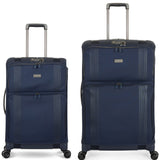 Antler Titus Medium 69cm And Cabin/Carry On 56cm Navy Hybrid Set