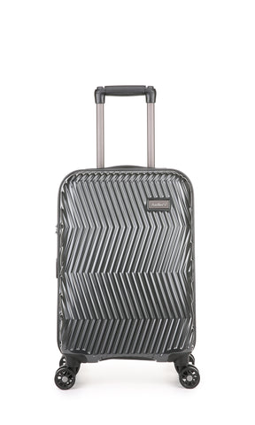 Viva Cabin/Carry On 56cm Charcoal Expandable Hard Suitcase