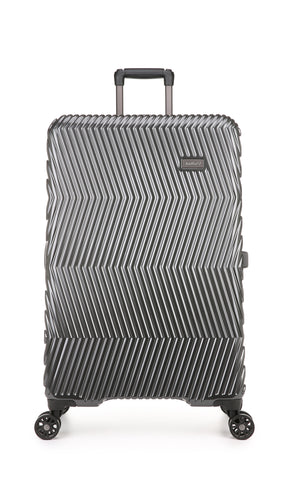 Viva 80cm Large Charcoal Expandable Hard Suitcase