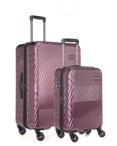 Antler Viva Aubergine Expandable Hard Large And Cabin Suitcase Set