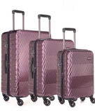 Antler Viva Aubergine Expandable 3 Piece Hard Suitcase Set