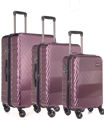 Antler Viva Aubergine Expandable Hard Suitcase Set With FREE Go Travel Scale