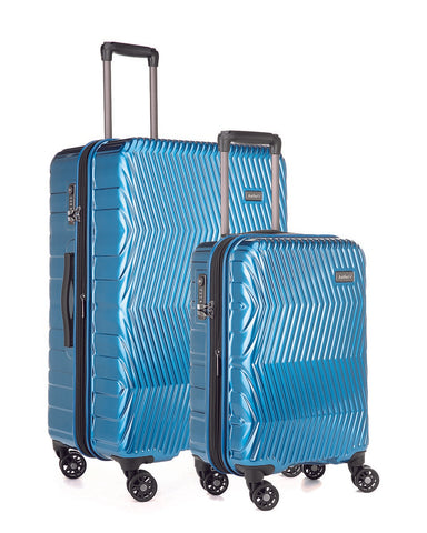 Antler Viva Teal Expandable Hard Large And Cabin Suitcase Set