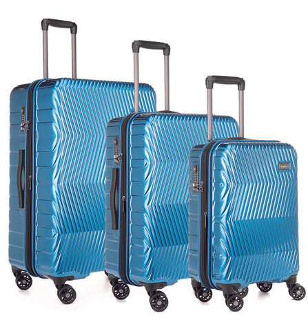 Antler Viva Teal Expandable 3 Piece Hard Suitcase Set