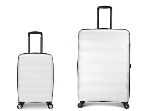 Antler Juno Large 79cm And Cabin/Carry On 55cm White Set