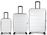 Antler Juno Expander White 3 Piece Hard Suitcase Set