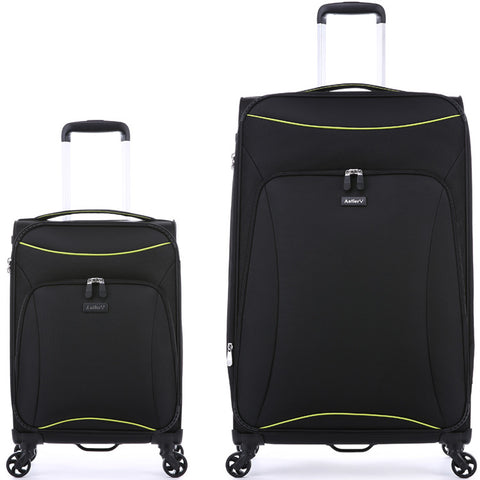 Antler Zeolite Large 81cm And Cabin/Carry On 56cm Black Set