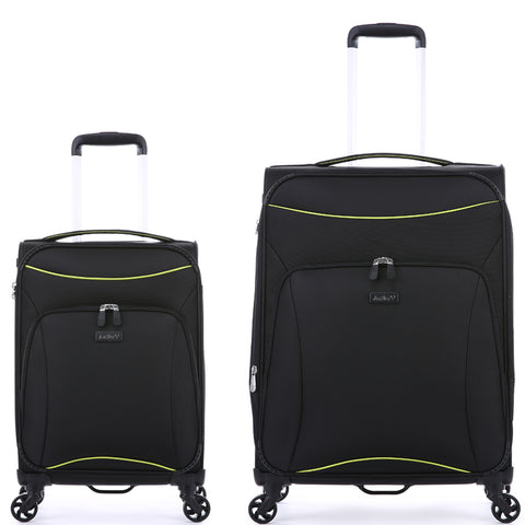 Antler Zeolite Medium 66cm And Cabin/Carry On 56cm Black Softcase Set