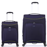 Antler Zeolite Medium 66cm And Cabin/Carry On 56cm Purple Softcase Set
