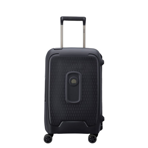 Delsey Moncey Cabin/Carry On 55cm Black Hard Suitcase