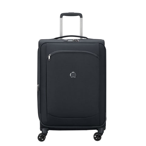Delsey Montmartre Air 2.0 Medium 68cm Black Soft Suitcase