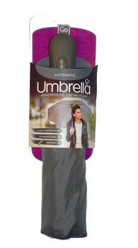 Go Travel Automatic Umbrella Grey
