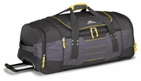 High Sierra Ultimate Access Medium 76cm Charcoal/Yellow Wheeled Duffle