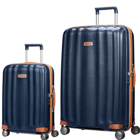 Samsonite Lite Cube DLX Large 82cm And Cabin/Carry On 55cm Midnight Blue Set