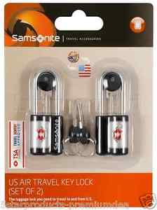 Samsonite Travel TSA Lock And Key 2x Set