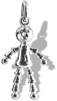 Small Mary Lou doll toy charm (available in silver and gold)