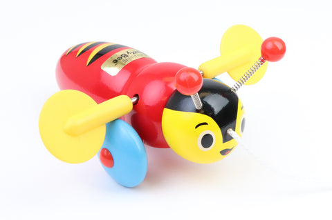 Buzzy Bee wooden pull-along toy